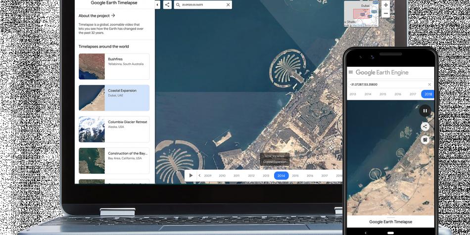 Vea cómo ha cambiado la tierra en 35 años con Google Earth Timelapse