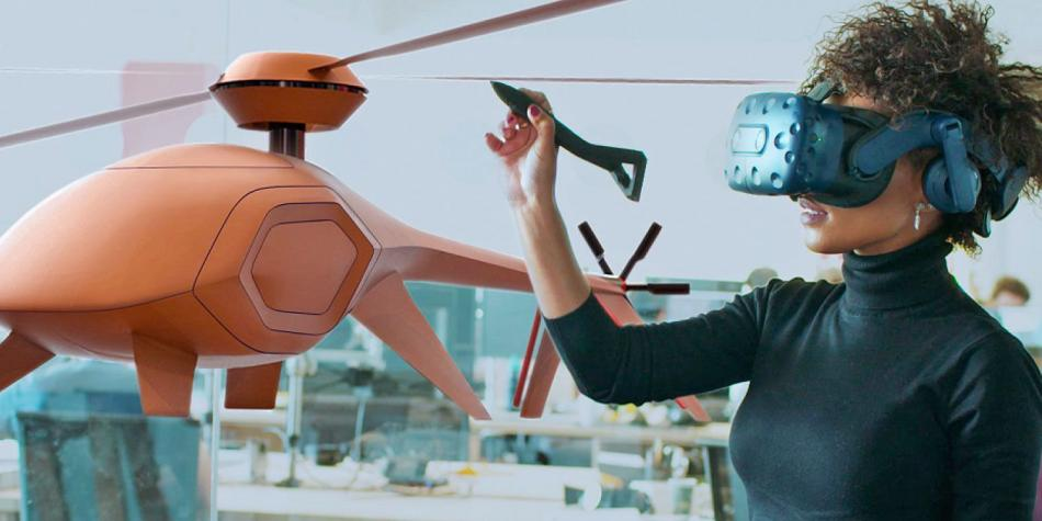Lápiz óptico crea dibujos en el aire utilizando realidad virtual